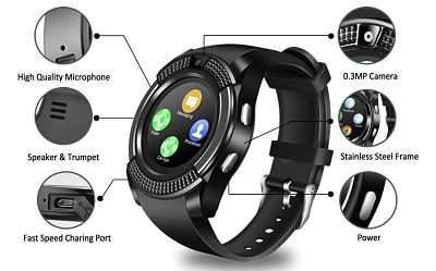 peakfun smartwatch with camera